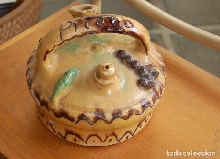 Antigüedades: BOTIJO DE CERÁMICA ANTIGUO DE PRIEGO CUENCA - Foto 2 - 110419135