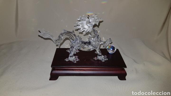 Antigüedades: Dragon swarovski . Edicion criaturas fantásticas . Con su base y su caja . - Foto 2 - 110419442