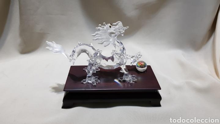 Antigüedades: Dragon swarovski . Edicion criaturas fantásticas . Con su base y su caja . - Foto 3 - 110419442