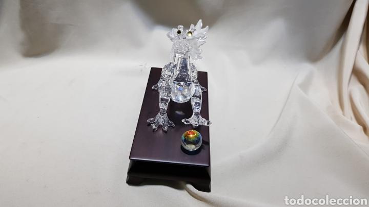 Antigüedades: Dragon swarovski . Edicion criaturas fantásticas . Con su base y su caja . - Foto 4 - 110419442