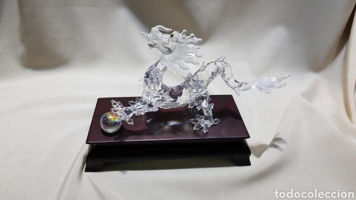 Antigüedades: Dragon swarovski . Edicion criaturas fantásticas . Con su base y su caja . - Foto 5 - 110419442