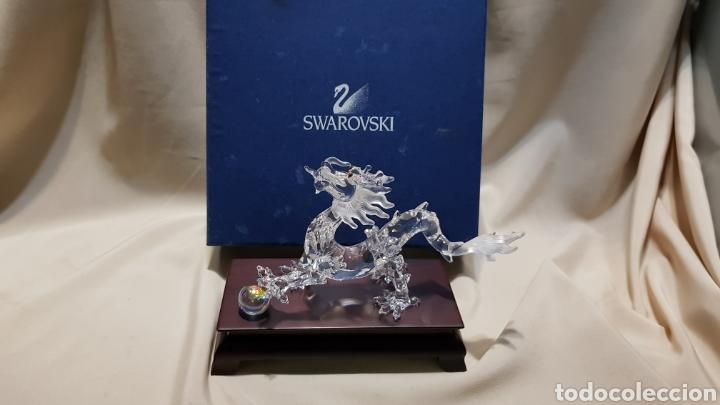 Antigüedades: Dragon swarovski . Edicion criaturas fantásticas . Con su base y su caja . - Foto 6 - 110419442