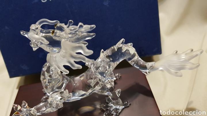 Antigüedades: Dragon swarovski . Edicion criaturas fantásticas . Con su base y su caja . - Foto 8 - 110419442