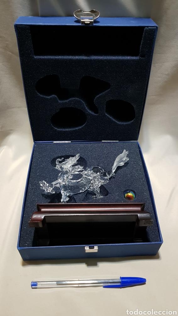 Antigüedades: Dragon swarovski . Edicion criaturas fantásticas . Con su base y su caja . - Foto 13 - 110419442