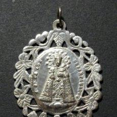 Antigüedades: MEDALLA DOBLE GRANDE: 4,6 CMTS. PLATA . BARROCA.VIRGEN DESAMPARADOS.VALENCIA Y SAN JOSÉ CON EL NIÑO. Lote 110427811