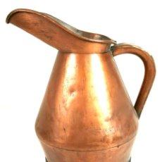 Antigüedades: JARRA DE AGUA DE COBRE. BASE DE HIERRO FORJADO. PRINCIPIOS SIGLO XX. . Lote 110441979