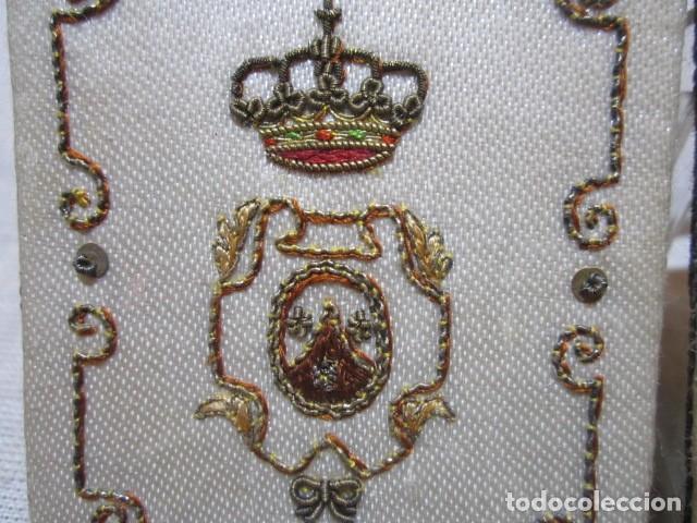 Antigüedades: Escapulario de la Orden religiosa del Carmen, en tela. 6 x 8 cms. - Foto 4 - 110456107