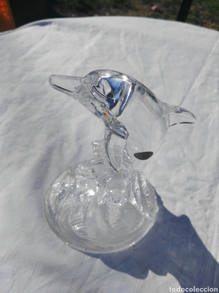 Antigüedades: Figura delfin cristal de Arques - Foto 4 - 110457188