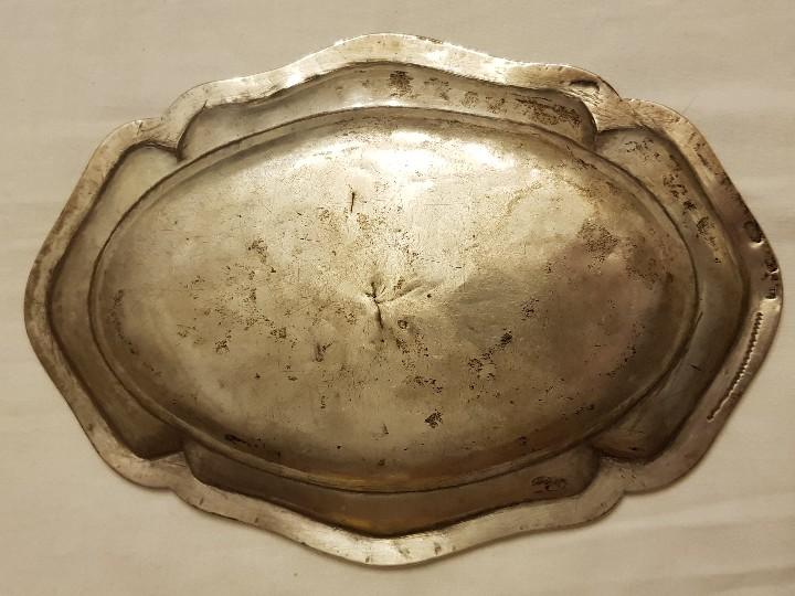 Antigüedades: Bandeja de plata. Punzonado Madrid-1779 - Foto 3 - 110499039