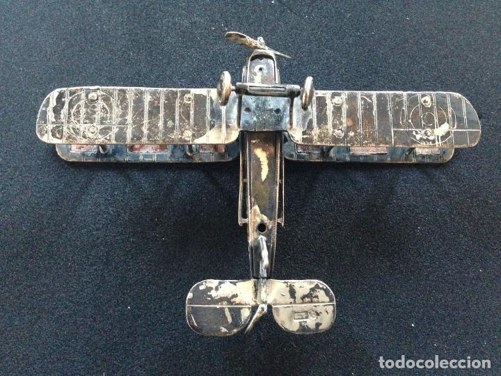 Antigüedades: ANTIGUO AVION BIPLANO DE PLATA - Foto 2 - 110521023