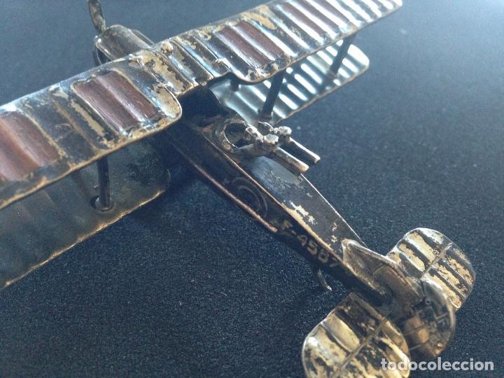 Antigüedades: ANTIGUO AVION BIPLANO DE PLATA - Foto 4 - 110521023