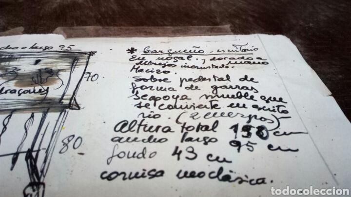 Antigüedades: BARGUEÑO LICORERO DE NOGAL TALLADO ETIQUETADO DE LA SALA DE ARTE JOAQUIM SOROLLA RECOGIDA A CARGO - Foto 12 - 110524668