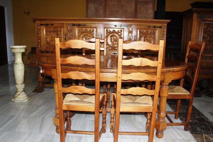 Antigüedades: MESA DE COMEDOR, EN ROBLE MACIZO. REF. 5668 - Foto 7 - 43327040
