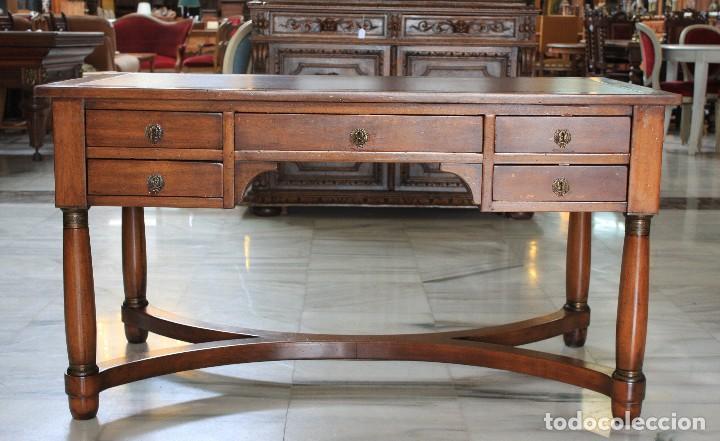 MESA DE DESPACHO IMPERIO. REF:6182 (Antigüedades - Muebles Antiguos - Mesas de Despacho Antiguos)