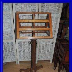 Antiguidades: PRECIOSO ATRIL DE IGLESIA O CORO EN NOGAL . Lote 110568971
