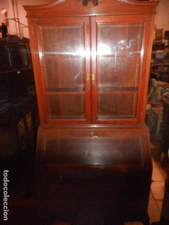 Antigüedades: mueble vitrina escritorio libreria estilo ingles recogida provincia barcelona - Foto 3 - 203410105