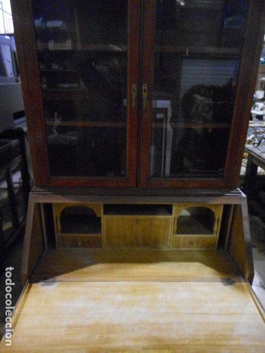 Antigüedades: mueble vitrina escritorio libreria estilo ingles recogida provincia barcelona - Foto 5 - 203410105
