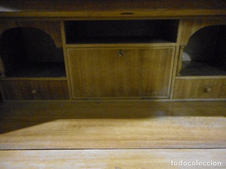 Antigüedades: mueble vitrina escritorio libreria estilo ingles recogida provincia barcelona - Foto 6 - 203410105