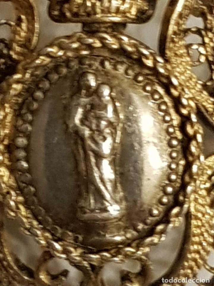 Antigüedades: Broche antiguo de plata. Virgen con Niño - Foto 2 - 110591243