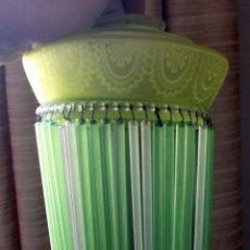 Antigüedades: LAMPARA CRISTAL ART DECO - FALTAN 7 TUBITOS (HAY 3 SUELTOS) - 22 CM LARGO/14,5 DIAMETRO. Lote 110596399