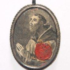 Antigüedades: RELICARIO DE SANTO DOMINGO. PLATA. CON LACRE. ESPAÑA. SS. XVII-XVIII. Lote 110635695
