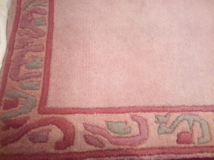 Antigüedades: Alfombra hecha a mano lana de oveja 100% - Foto 10 - 75702643