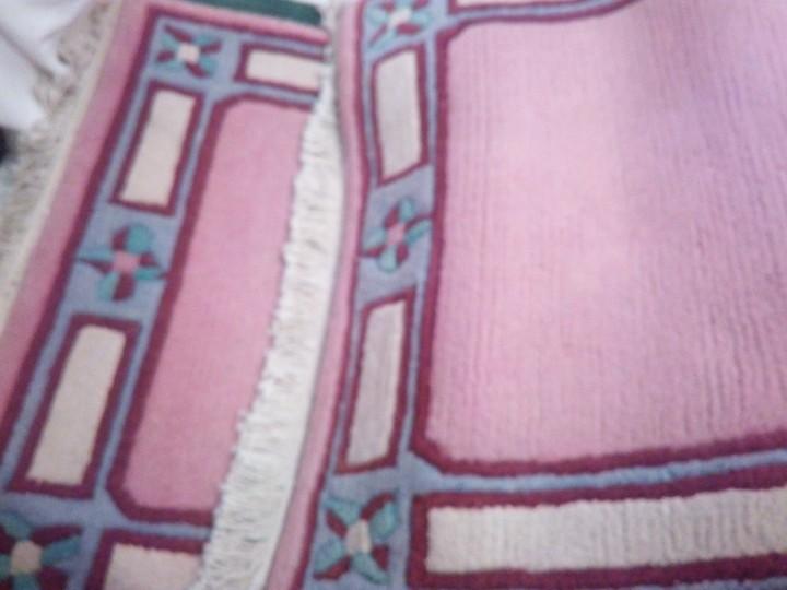 Antigüedades: Alfombra hecha a mano lana de oveja 100% - Foto 16 - 75702643