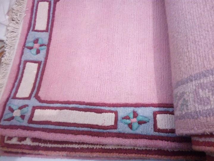 Antigüedades: Alfombra hecha a mano lana de oveja 100% - Foto 17 - 75702643