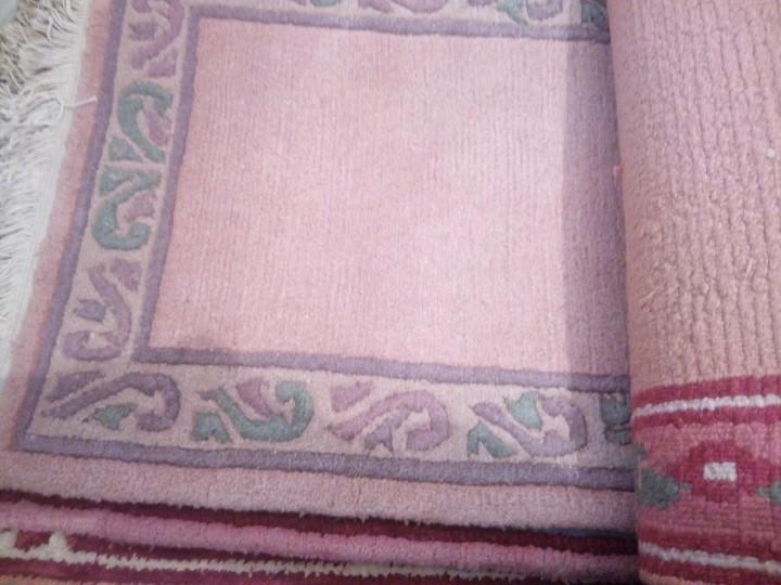 Antigüedades: Alfombra hecha a mano lana de oveja 100% - Foto 19 - 75702643