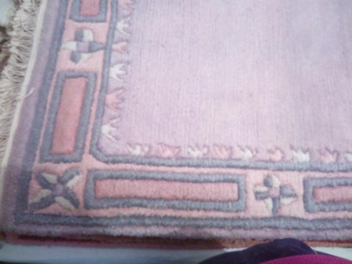 Antigüedades: Alfombra hecha a mano lana de oveja 100% - Foto 22 - 75702643
