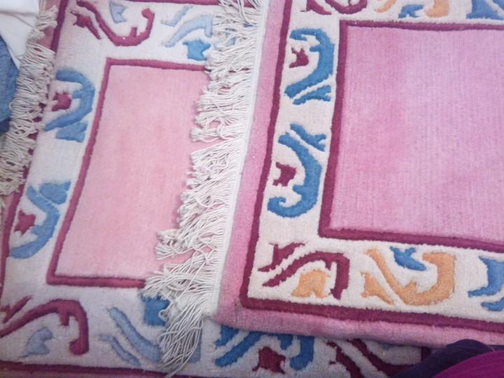 Antigüedades: Alfombra hecha a mano lana de oveja 100% - Foto 24 - 75702643