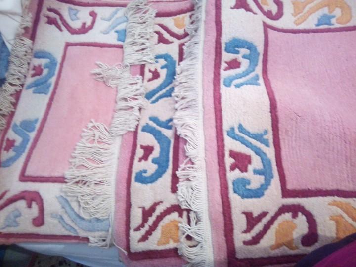 Antigüedades: Alfombra hecha a mano lana de oveja 100% - Foto 25 - 75702643