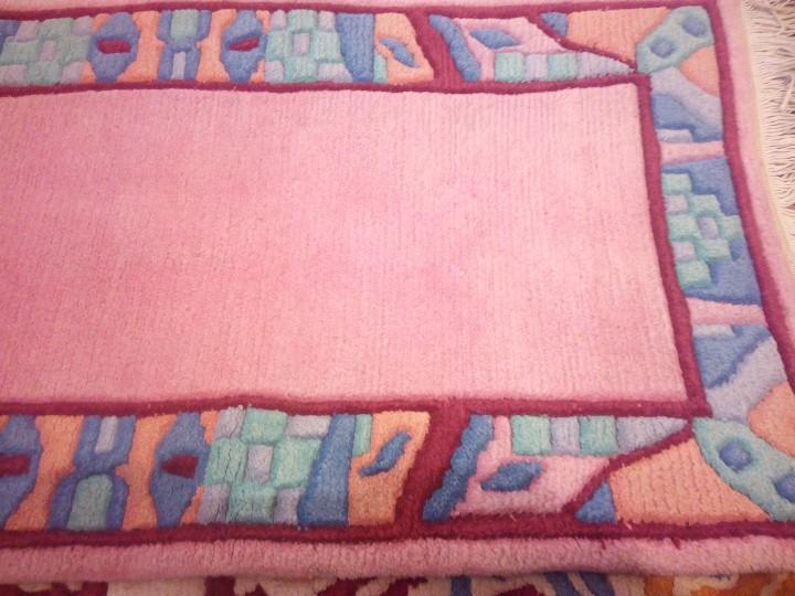 Antigüedades: Alfombra hecha a mano lana de oveja 100% - Foto 26 - 75702643