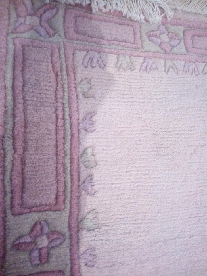 Antigüedades: Alfombra hecha a mano lana de oveja 100% - Foto 30 - 75702643