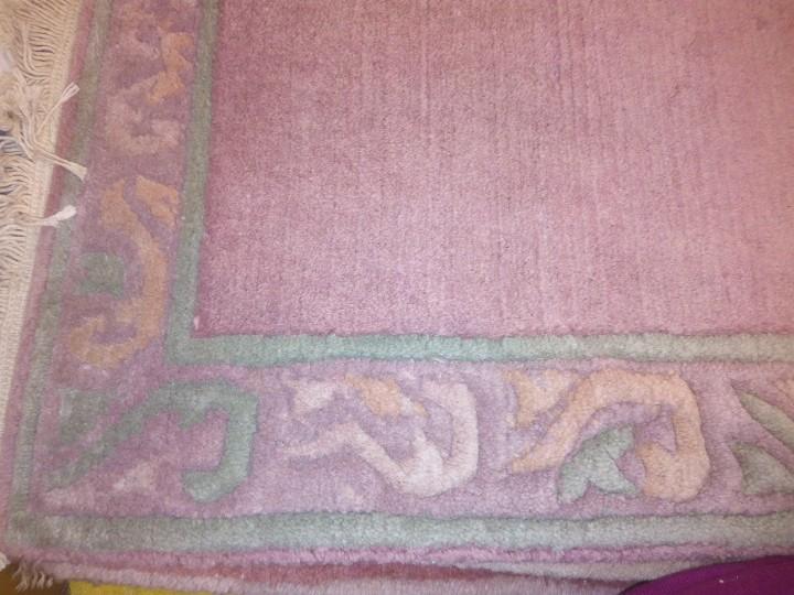 Antigüedades: Alfombra hecha a mano lana de oveja 100% - Foto 31 - 75702643