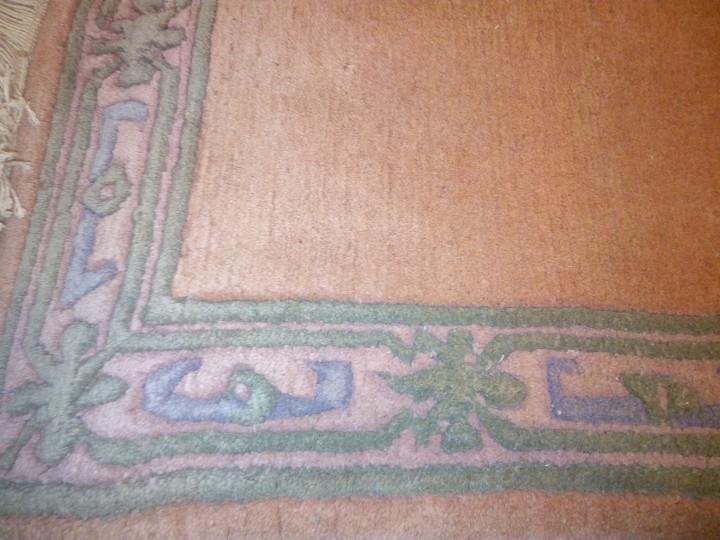 Antigüedades: Alfombra hecha a mano lana de oveja 100% - Foto 32 - 75702643