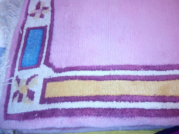 Antigüedades: Alfombra hecha a mano lana de oveja 100% - Foto 34 - 75702643