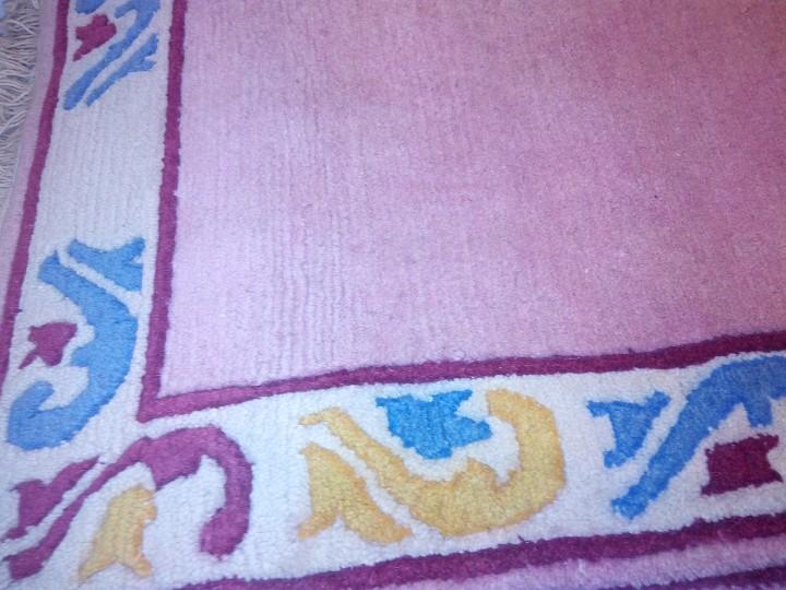 Antigüedades: Alfombra hecha a mano lana de oveja 100% - Foto 35 - 75702643