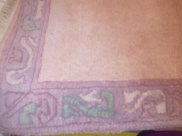 Antigüedades: Alfombra hecha a mano lana de oveja 100% - Foto 38 - 75702643