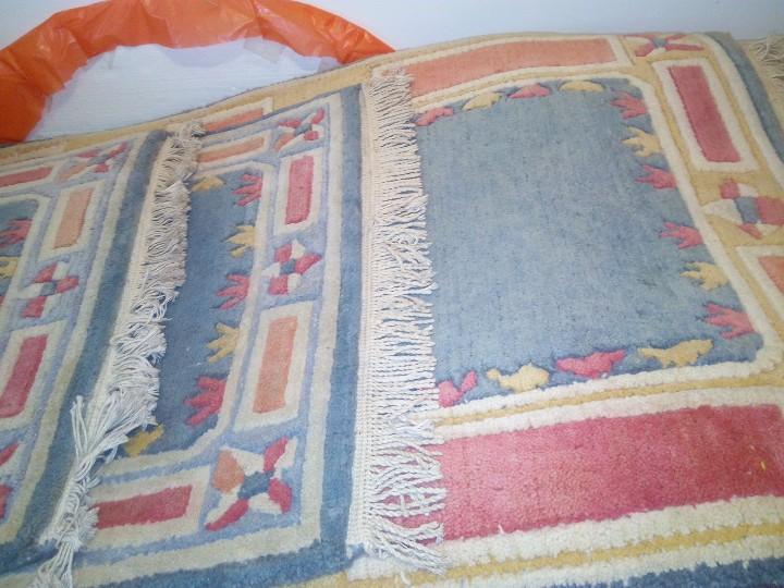 Antigüedades: Alfombra hecha a mano lana de oveja 100% - Foto 40 - 75702643