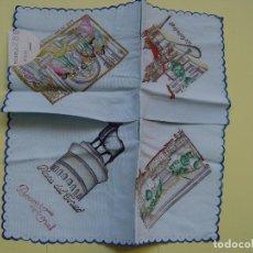 Antigüedades: ANTIGUO PAÑUELO: RECUERDO DE TERUEL (22 CMS.) 1950'S. ORIGINAL. COLECCIONISTA.. Lote 110640259