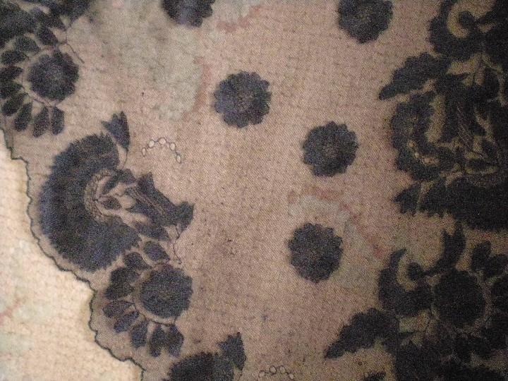 Antigüedades: Velo o Mantilla antigua de encaje de misa de en triángulo de 1,18 por 55 - Foto 3 - 110303271