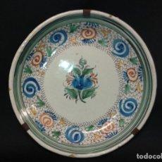 Antigüedades: PLATO DE CERÁMICA POLICROMADA. MANISES. SIGLO XIX.. Lote 110651411
