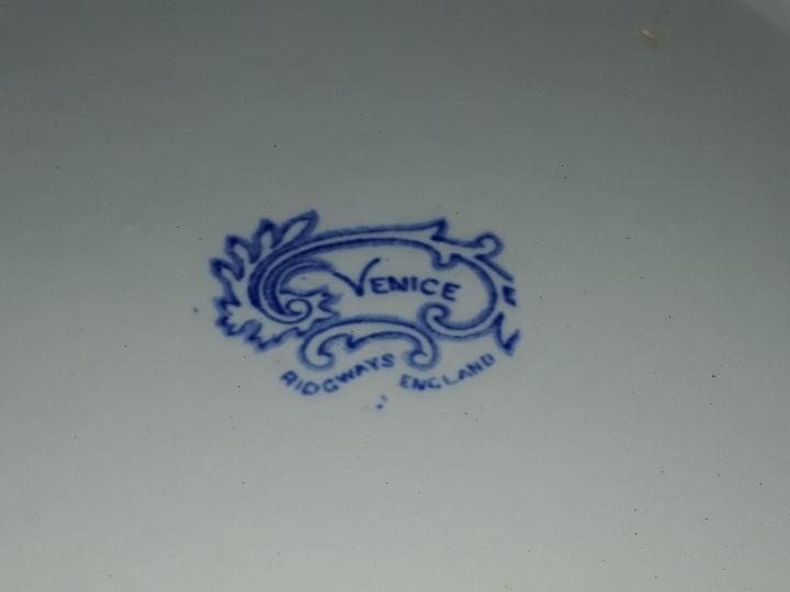 Antigüedades: LEGUMBRERA, SOPERA. LOZA. RIDGWAYS. VENICE. INGLATERRA. PRINCIPIOS DEL SIGLO XX. - Foto 20 - 110652275