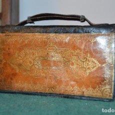 Antigüedades: ANTIGUO BOLSITO DE MANO, CARTERA, EN PIEL, ESPEJITO, HACIA 1900, ORIGINAL, BUEN ESTADO.. Lote 110661387