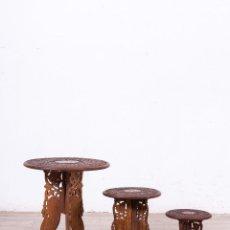 Antigüedades: SET DE TRES MESITAS AUXILIARES. Lote 110661711