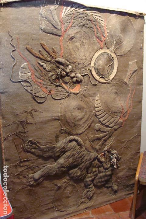 TAPIZ CHINO - SIGLO XIX (Antigüedades - Hogar y Decoración - Tapices Antiguos)