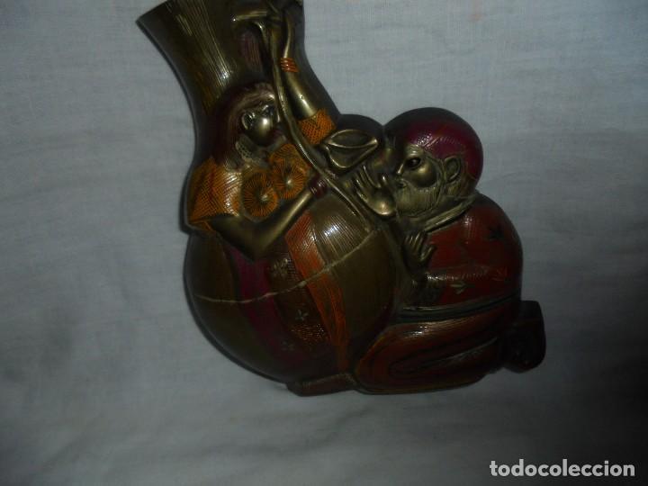 Antigüedades: FLORERO DE BRONCE PARA COLGAR - Foto 2 - 110676519
