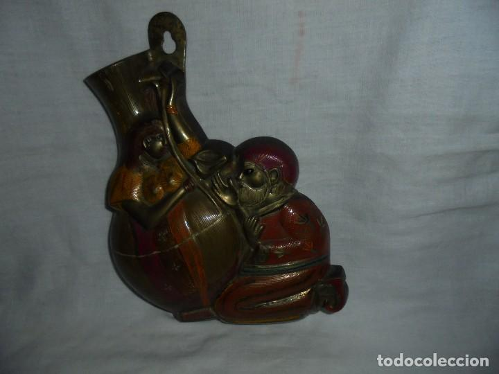 Antigüedades: FLORERO DE BRONCE PARA COLGAR - Foto 7 - 110676519