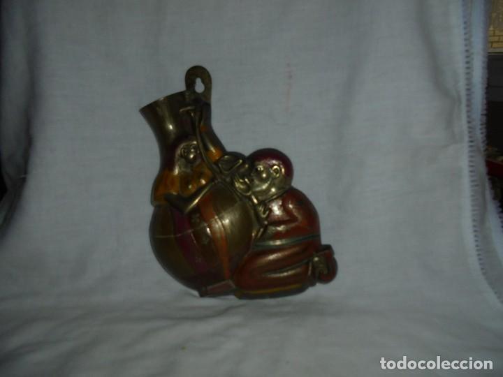 Antigüedades: FLORERO DE BRONCE PARA COLGAR - Foto 10 - 110676519